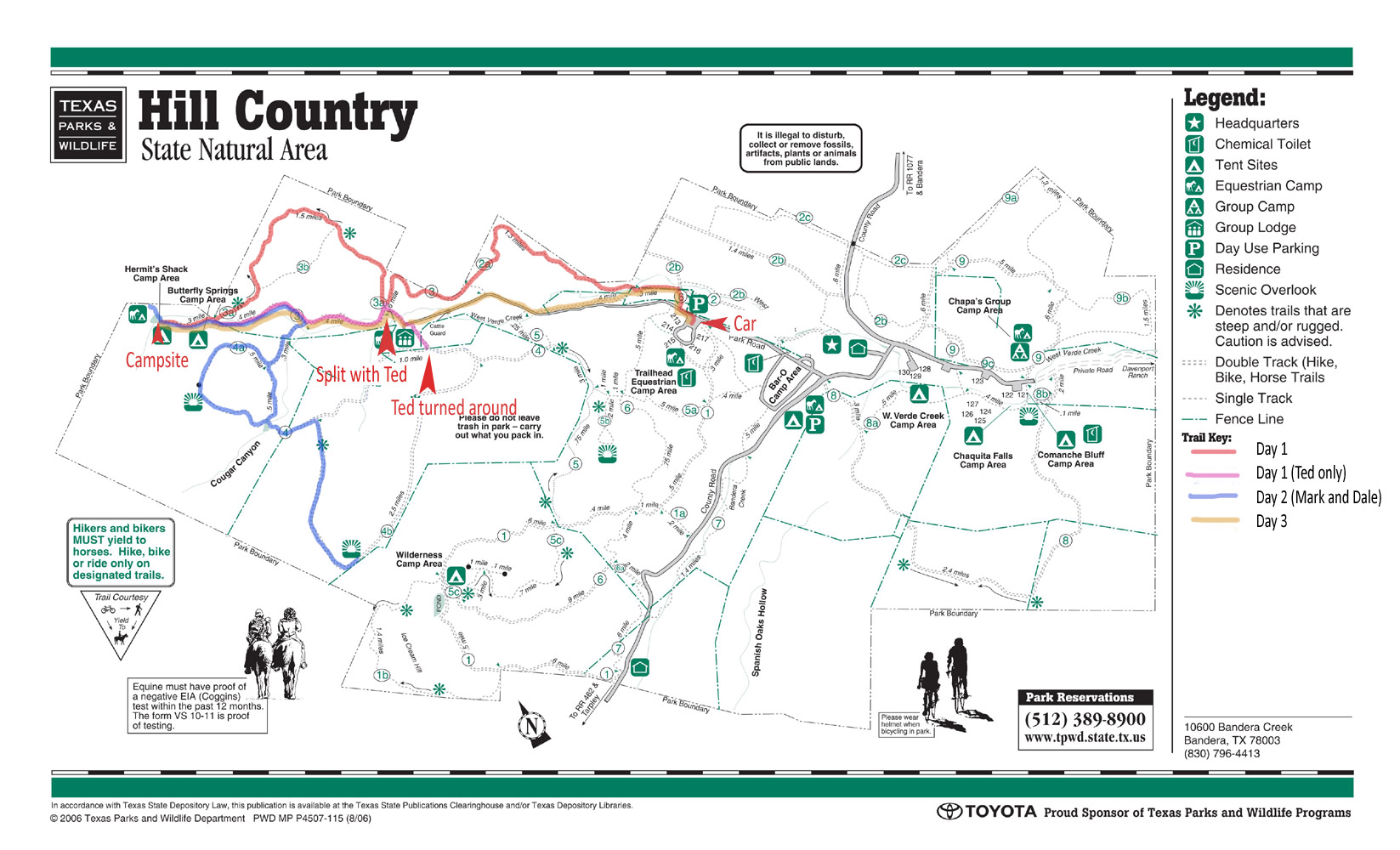 Hill Country State Natural Area Trail Map Choice Image